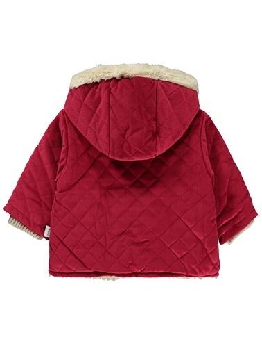 Minidamla Kız Bebek Kapüşonlu Mont Kırmızı